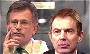 Transport Secretary Stephen Byers and Prime Minister Tony Blair