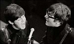 Lennon (right) and McCartney