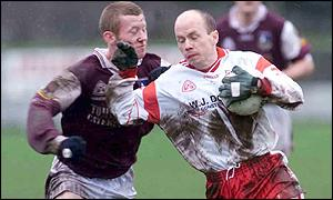 Peter Canavan (right) led Tyrone to National League success this season