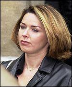 Claire Sweeney attends the funeral