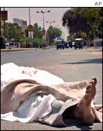 Body of Muslim man on streets of Ahmedabad