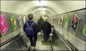 Tube escalator