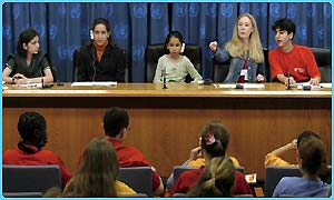 Kids address press conference
