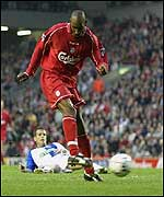 Liverpool on-loan striker Nocolas Anelka