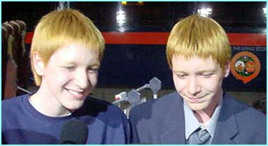 James and Oliver Phelps...or is that Oliver and James Phelps?