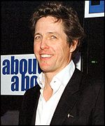 Hugh Grant at the About A Boy premi�re