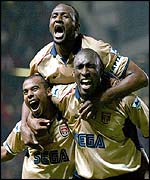 Ashley Cole, Patrick Vieira and Sol Campbell