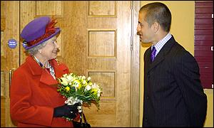 The Queen was one of the first people to congratulate Cole at the Upton Park stadium
