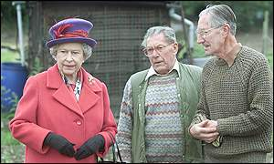 The Queen at allotments in Redbridge Lane West