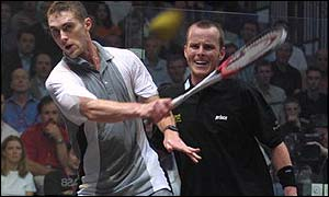 David Palmer (left) in action against Peter Nicol