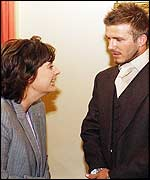 Cherie Blair and David Beckham