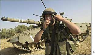 Israeli tanks outside Gaza