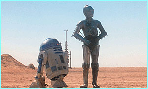 The two droids have many adventures with Luke, Leia and Han