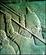 Assyrian relief of King Ashurbanipal