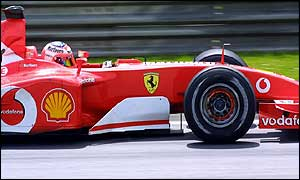 Rubens Barrichello in practice for the Austrian Grand Prix