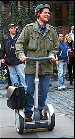 Dean Kamen on a Segway
