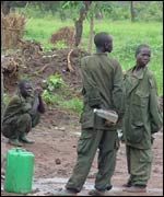 Young Ugandan soldiers