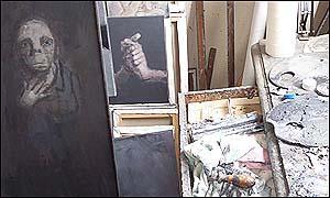 Jean Rustin´s studio. 2002. Photo: Manuel Toledo.
