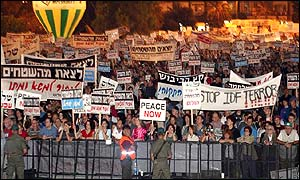Thousands gathered in Rabin square