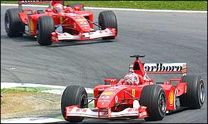 Ferrari on course for a one-two finish