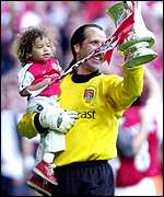 David Seaman and daughter, Georgina