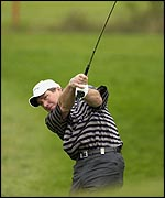 Barry Lane in action at The Belfry