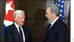 Jimmy Carter y Fidel castro.