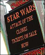 Star Wars ticket sign