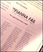 Advert in local paper for Fianna Fail