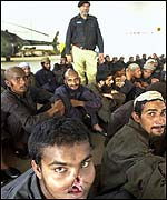 Former Pakistani prisoners in Peshawar