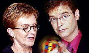 Anne Robinson and Philip Schofield