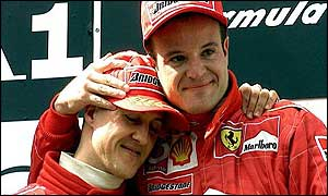 Michael Schumacher and Rubens Barrichello followed team orders