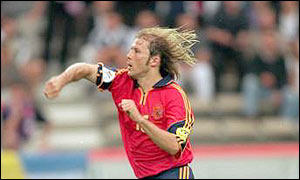 Gaizka Mendieta starred for Spain in Euro 2000
