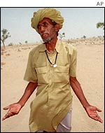 Rajasthani farmer in despair