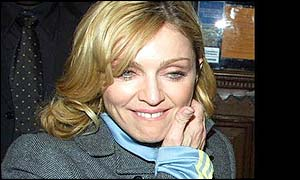 Madonna leaved the theatre