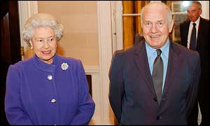 The Queen and Norhtern Ireland Secretary John Reid