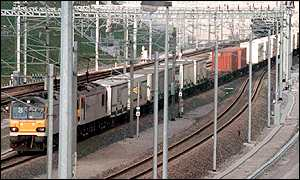 Channel Tunnel freight train