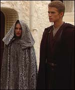 Natalie Portman and Hayden Christensen
