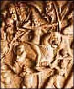 Mural of Emperor Chandragupta Maurya