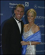 Shane Warne and wife Simone at the Laureus World Sports Awards