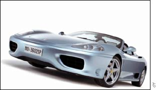 Ferrari 360 Spider sports car