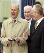 Prince Philip visited Fisher Engineering