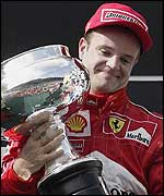 Rubens Barrichello led for most of the race