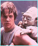 Luke training with Yoda