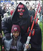Star Wars fan as Darth Maul