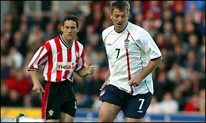 Le Tissier in action during his testimonial