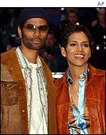 Actress Halle Berry arriving with her husband Eric Benet