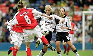 Angela Banks in action against Fulham