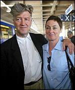 David Lynch with his wife, Mary