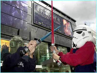 Star Wars fever hit Leicester Square in London where kids battled it out for the best spot to star watch before the premiere